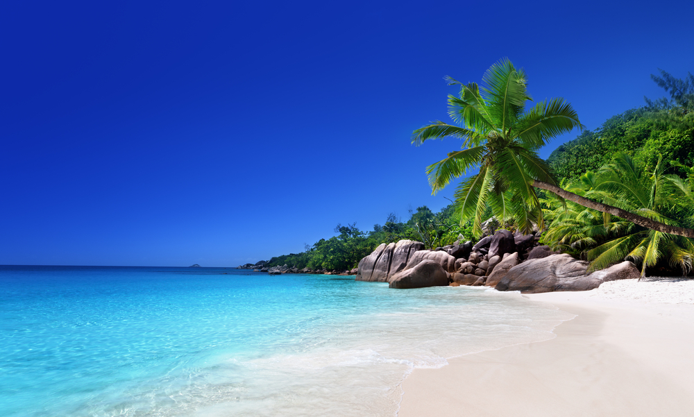 beach at Praslin island, Seychelles-1